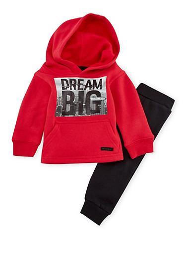 Boys 8-20 Sean John Sweatshirt and Joggers Set with Dream Print,RED,large