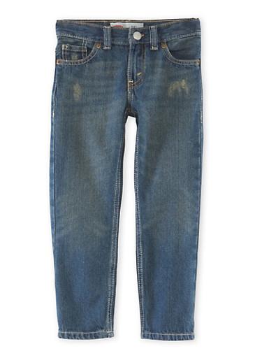 Boys 4-7x Levis Distressed 511 Jeans,DENIM,large