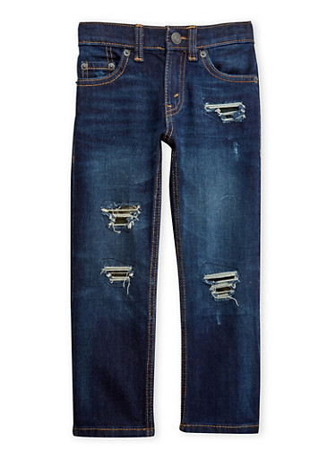 Boys 4-7x Levi's Distressed Jeans,DENIM,large