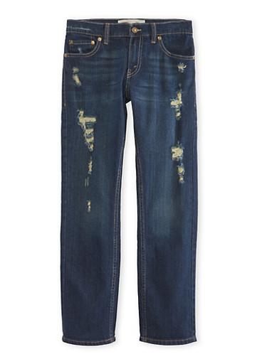 Boys 8-20 Levis Distressed 511 Slim Jeans,DENIM,large