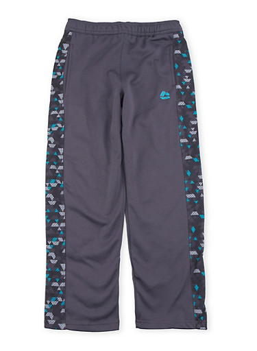 Boys 8-20 Performance Pants with Mesh Paneling,CHARCOAL,large