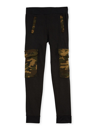 Boys 8-20 BHPC Cargo Joggers with Camo Print,CAMOUFLAGE,large