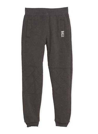 Boys 8-20 BHPC Joggers with Quilted Knees,CHARCOAL,large