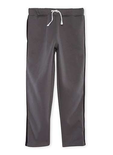 Boys 8-16 French Toast Fleece Sweatpants with Stripe,GREY,large