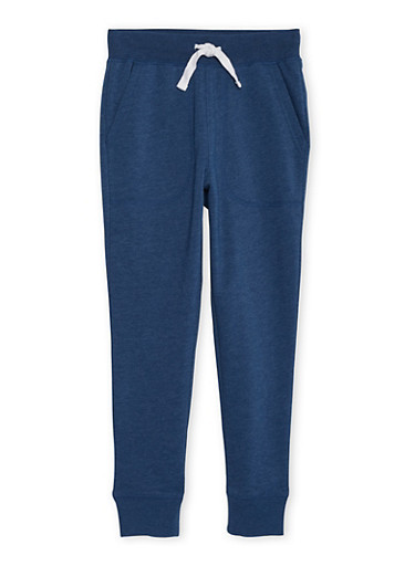 Boys 8-16 French Toast Fleece Jogger Pants,INDIGO,large