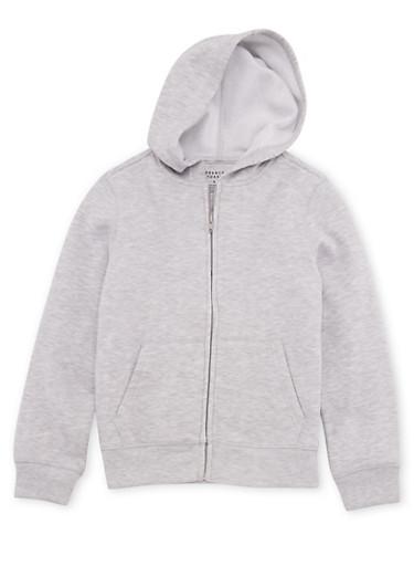 Boys 8-16 French Toast Hooded Sweatshirt,HEATHER,large