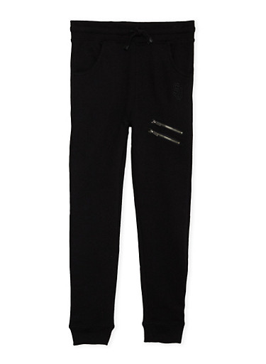 Boys 8-20 Sean John Joggers with Zipper Accents,BLACK,large