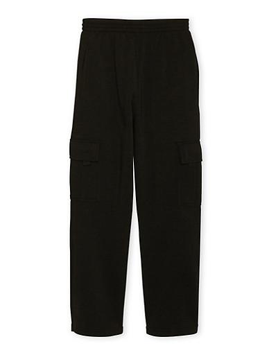 Boys 4-7 Sweatpants with Cargo Pockets,BLACK,large