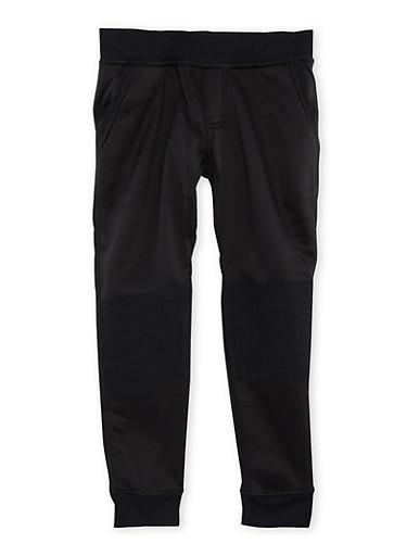Boys 4-7 Moto Fleece Joggers,BLACK,large