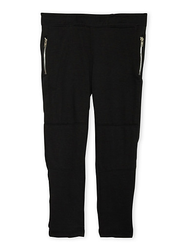 Boys 8-20 Sweatpants with Zip Pockets,BLACK,large