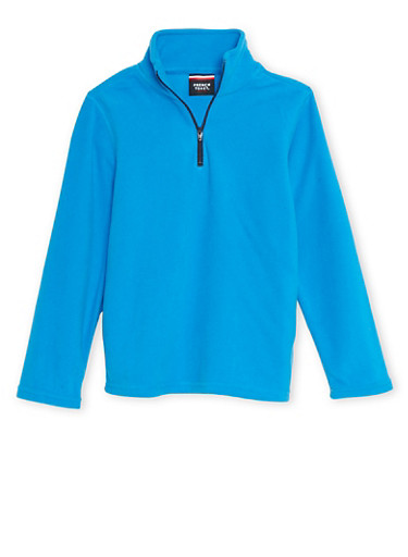 Boys 8-16 French Toast Fleece Top with Zipper,BLUE,large