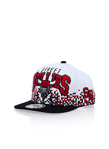 Snapback Hat with Street Bullies Design,WHITE,large