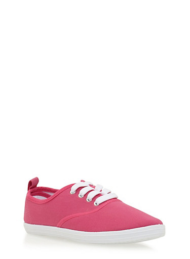 Girls Low-Top Sneakers,FUCHSIA,large