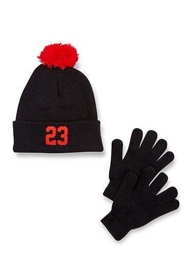 Boys Hat and Gloves Set with 23 Design,MULTI COLOR,large