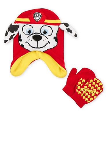 Boys Paw Patrol Beanie and Mittens Set,MULTI COLOR,large