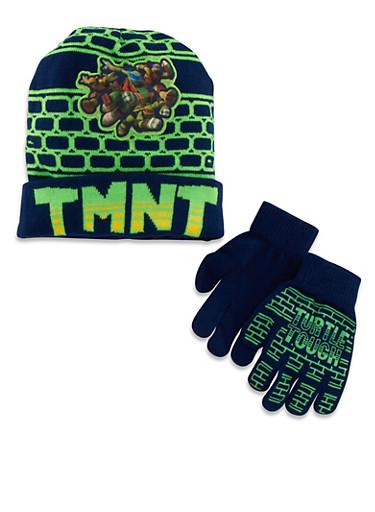 Teenage Mutant Ninja Turtles Hat and Gloves Set,MULTI COLOR,large