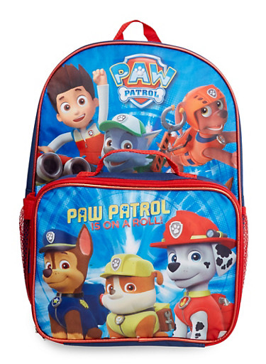 Paw Patrol Backpack with Lunch Bag,BLU/RED,large