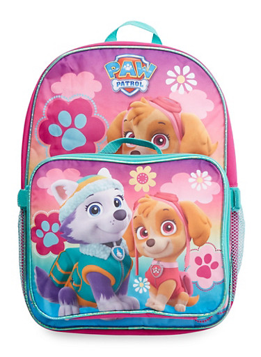 Paw Patrol Backpack with Lunch Bag,PNK/MNT,large