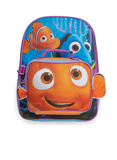 Finding Dory Backpack with Detachable Lunch Box Set,MULTI COLOR,large