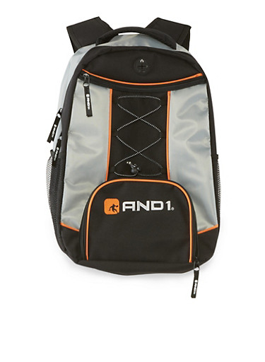 AND1 Backpack with Bungee Cord,HEATHER,large