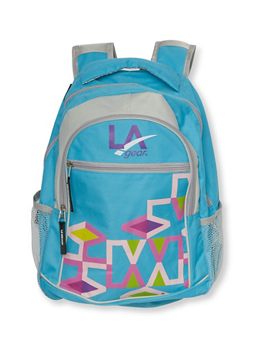 LA Gear Backpack with Geo Print,BABY BLUE,large