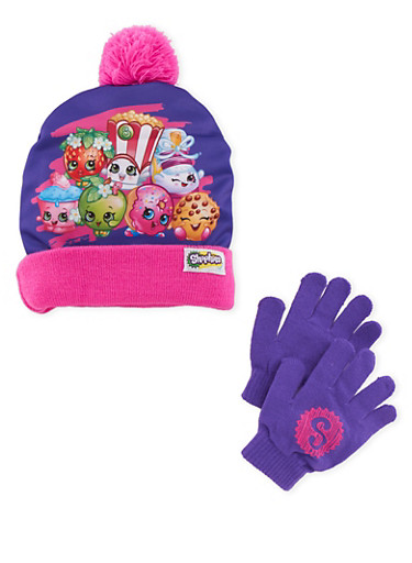 Shopkins Graphic Hat and Gloves Set,MULTI COLOR,large