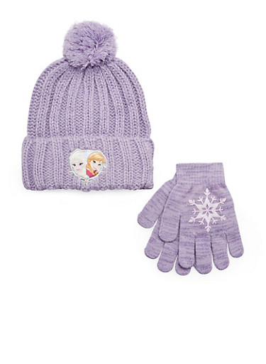 Girls Frozen Hat and Gloves Set,MULTI COLOR,large