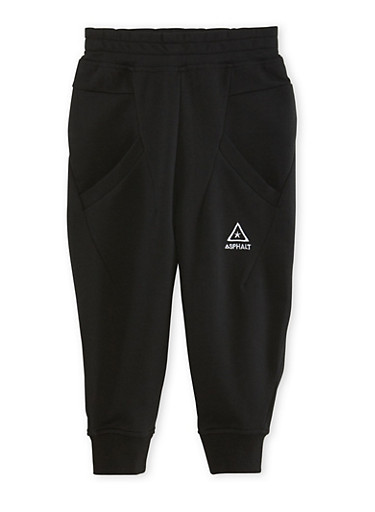 Boys 4-7 Solid Joggers,BLACK,large