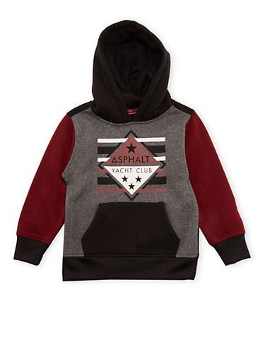 Boys 4-7 Asphalt Color Block Hoodie,GREY,large
