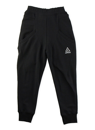 Boys 8-20 Solid Knit Joggers,BLACK,large