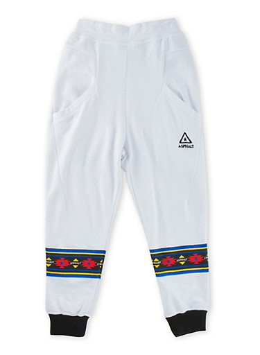 Boys 8-20 Solid Knit Joggers,WHITE,large