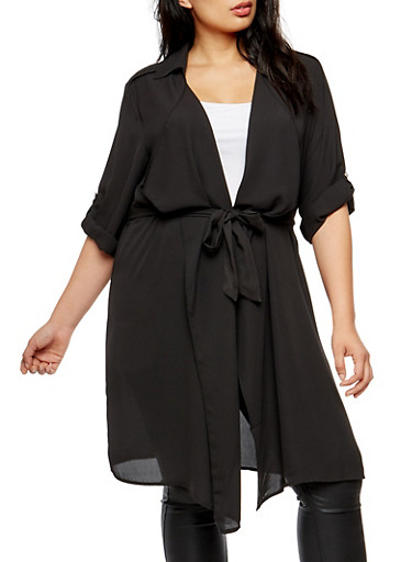 Plus Size Tie Waist Duster at Rainbow Shops in Jacksonville, FL | Tuggl