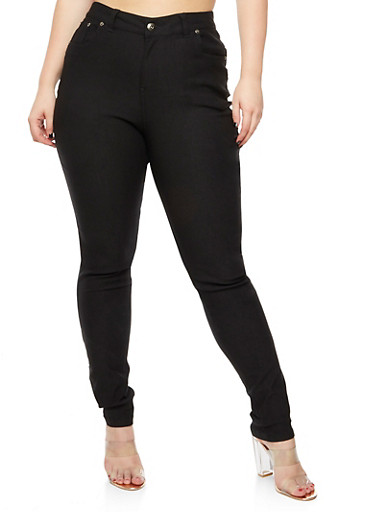 Plus Size Solid Stretch Pants at Rainbow Shops in Daytona Beach, FL | Tuggl