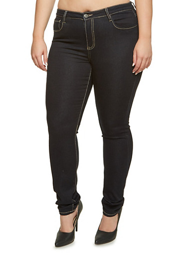 Plus Size Cello Skinny Jeans,RINSE,large