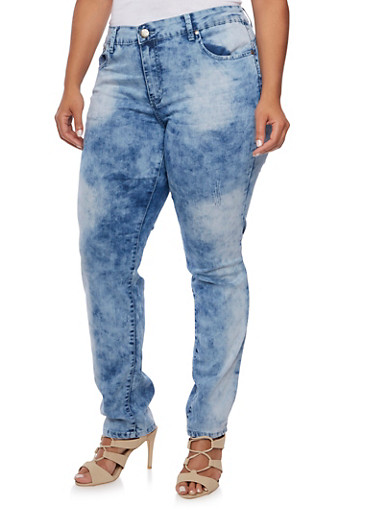 Plus Size VIP Skinny Jeans,LIGHT WASH,large