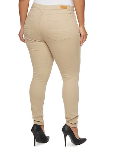 Plus Size Colored Skinny Jeans - Rainbow