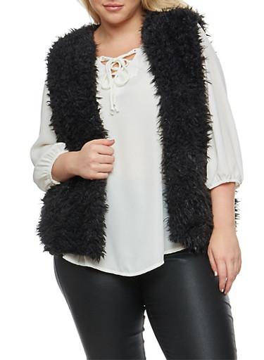Plus Size Faux Fur Vest at Rainbow Shops in Jacksonville, FL | Tuggl