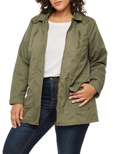 Plus Size Anorak Hooded Jacket at Rainbow Shops in Jacksonville, FL | Tuggl