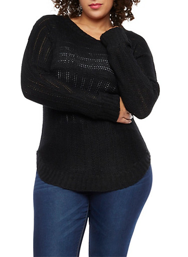 Plus Size Crew Neck Sweater at Rainbow Shops in Daytona Beach, FL | Tuggl