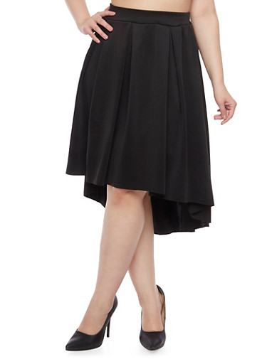 Plus Size A Line Skirt,BLACK,large