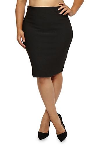 Plus Size Bandage Skirt,BLACK,large