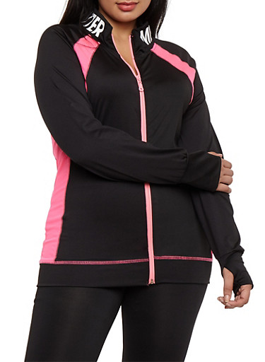 Plus Size Mind Over Matter Graphic Zip Up Top at Rainbow Shops in Daytona Beach, FL | Tuggl