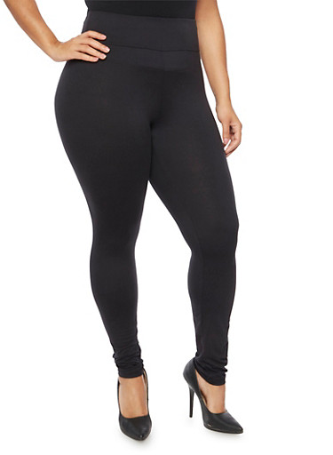 Plus Size High Waisted Leggings,BLACK,large