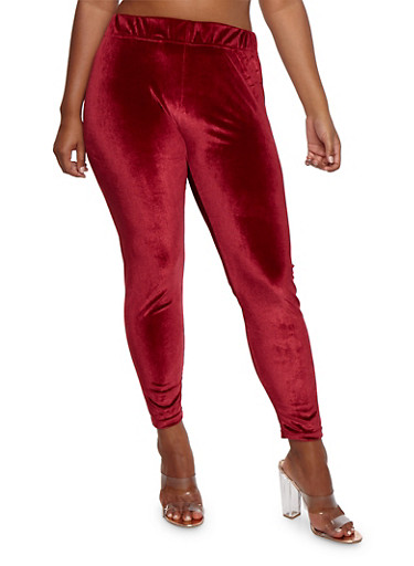 Plus Size Velvet Leggings at Rainbow Shops in Daytona Beach, FL | Tuggl