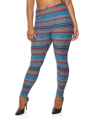 Plus Size Printed Leggings at Rainbow Shops in Jacksonville, FL | Tuggl