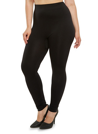 Plus Size Leggings,BLACK,large