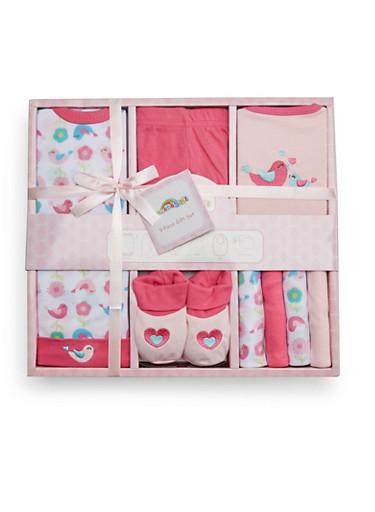 Baby Girl 9-Piece Gift Set,PINK,large