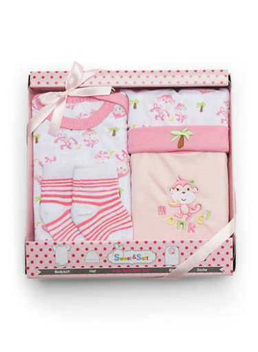 Baby Girl 4-Piece Gift Set,PINK,large