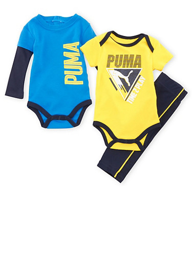Baby Boy Puma Bodysuits and Pants Set,NAVY,large