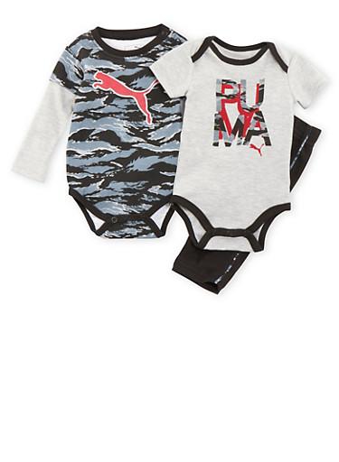 Baby Boy Puma Set with Camouflage Print,BLACK,large